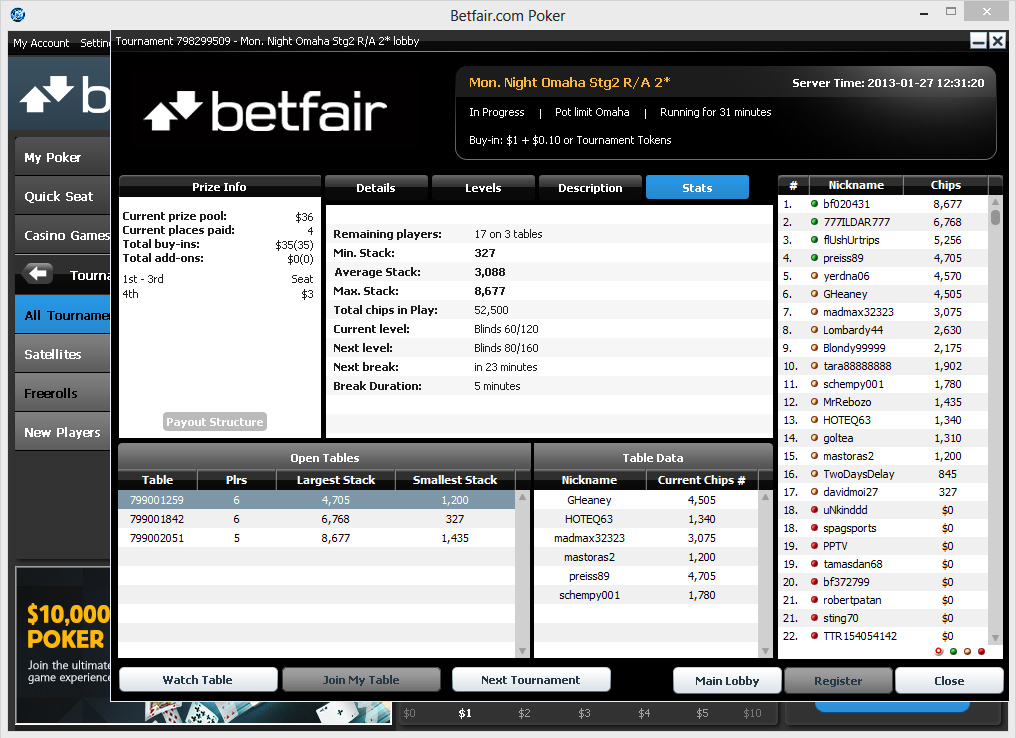 betfair poker network