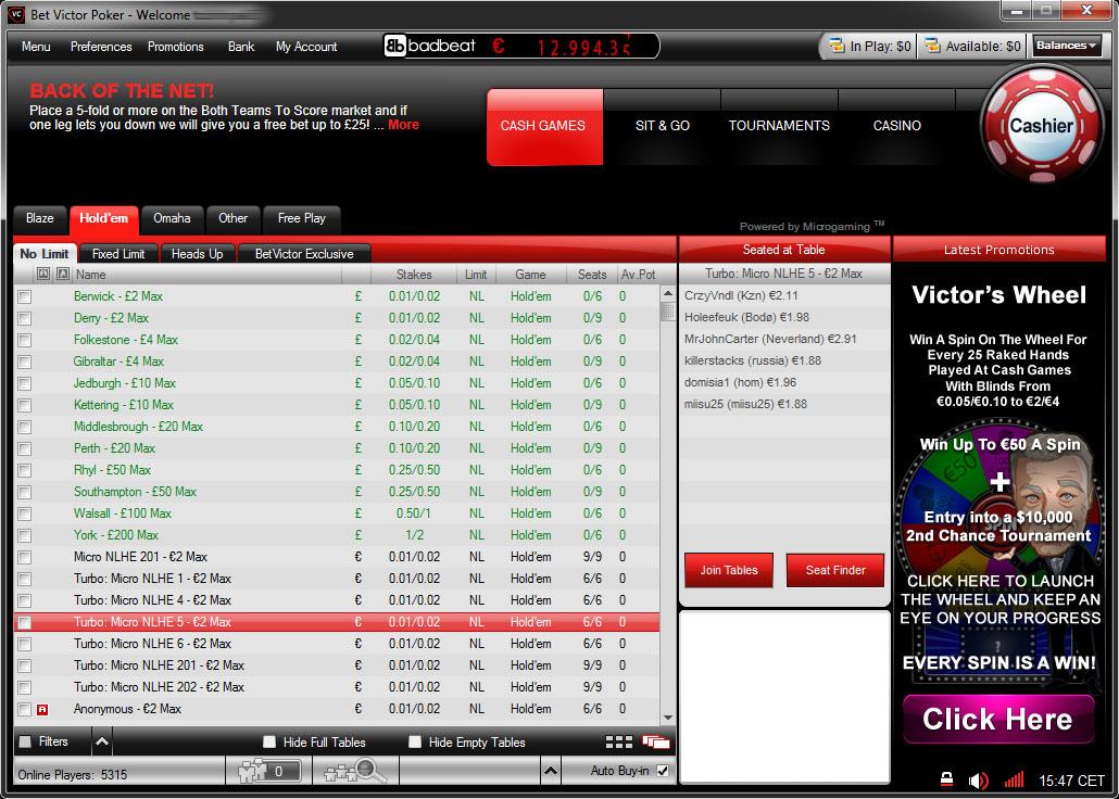 Microgaming online poker sites