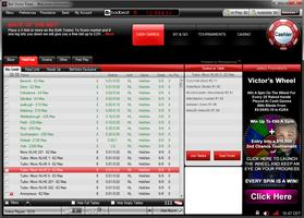 BetVictor Poker Lobby