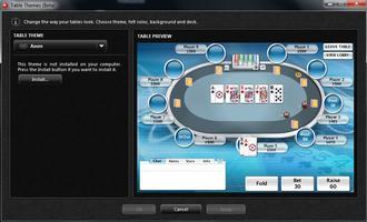 PokerStars Table Design Selection