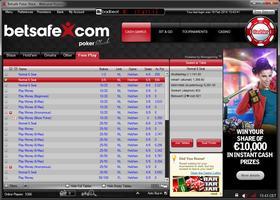 Betsafe Poker Microgaming Lobby