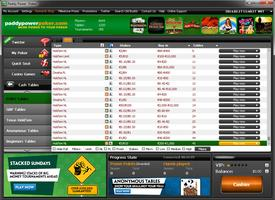 Paddy Powe Poker Lobby