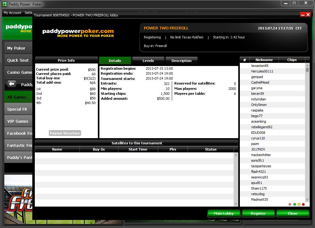 Redeem paddy power poker points