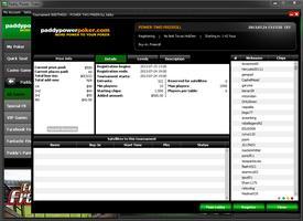 Paddy Power Poker Tourney Lobby