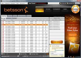 Betsson Poker Microgaming Lobby