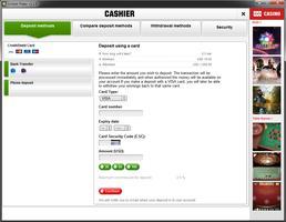 Unibet Poker Cashier