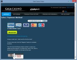 Gala Poker Cashier