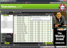 Stan James Poker Lobby