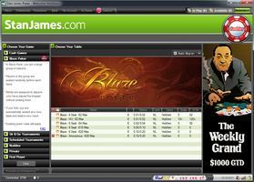 Stan James Poker Blaze Lobby