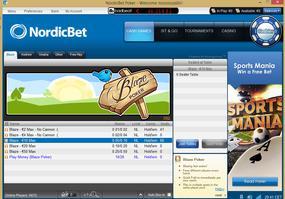 NordicBet Blaze lobby