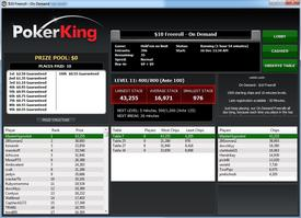 PokerKing tournament lobby