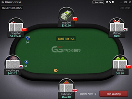 GGPoker table