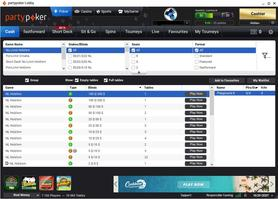 partypoker cash game lobby