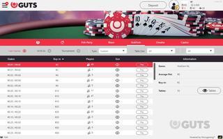 Guts Poker lobby
