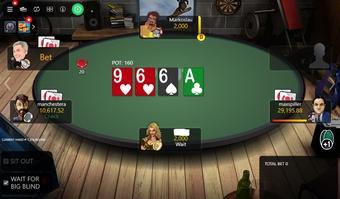 Guts Poker table